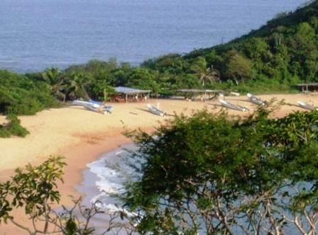 Bahia con lanchas de pescadores