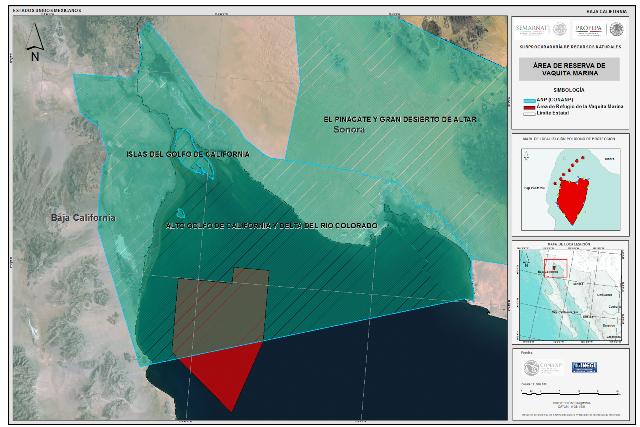 Mapa del Área de Refugio de Vaquita Marina