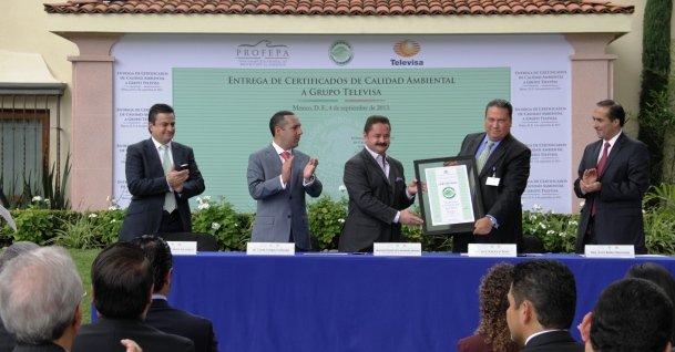 Entrega de Certificados Ambientales Televisa